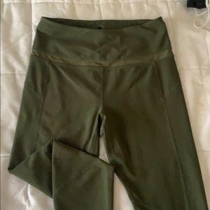 Army green leggings